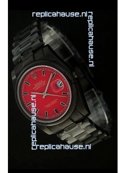Rolex Datejust Swiss Replica PVD Watch in Red Dial