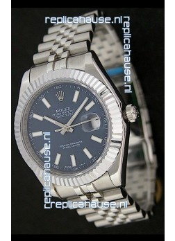 Rolex DateJust Swiss Replica Watch in Blue Dial