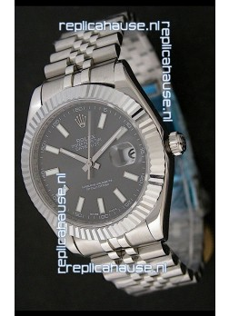 Rolex Datejust Swiss Replica Watch in Grey Dial