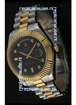 Rolex Datejust Swiss Replica Two Tone Yellow Gold Watch