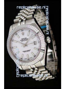 Rolex DateJust Swiss Replica Watch in White Dial