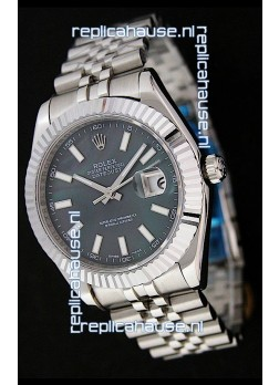 Rolex DateJust Swiss Replica Watch in Black Mother of Pearl Dial