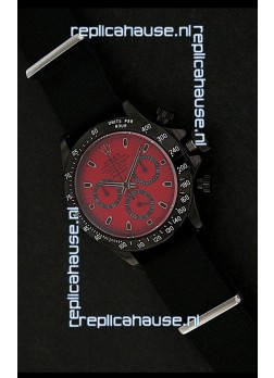 Rolex Daytona Oyster Perpetual Swiss Replica PVD Watch in Red Dial
