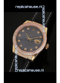 Rolex DateJust Swiss Mens Replica Yellow Gold Watch in Colorful Mother of Pearl Dial