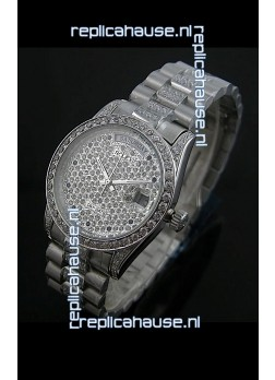 Rolex Day Date swiss Automatic Replica Watch in Diamonds Dial