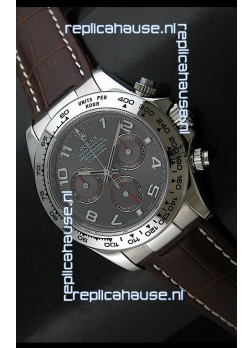 Rolex Daytona Cosmograph Swiss Replica Stainless Steel Watch in Grey Dial