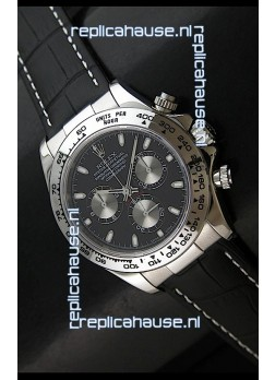 Rolex Daytona Cosmograph Swiss Replica Stainless Steel Watch in Black Dial