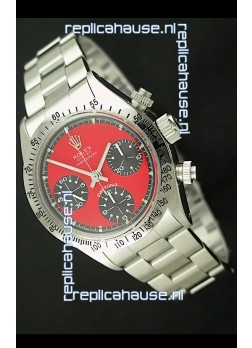 Rolex Daytona Cosmograph Swiss Vintage Watch in Red Dial