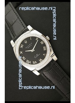 Rolex Cellini Japanese Replica Watch in Black Dial