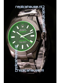 Rolex Milguass Prohunter Swiss PVD Watch in Green Dial