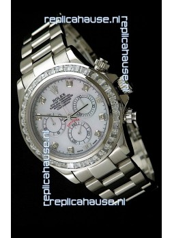 Rolex Oyster Perpetual Cosmograph Daytona Swiss Replica Watch in White Dial