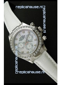 Rolex Oyster Perpetual Cosmograph Daytona Swiss Replica Watch in White Strap
