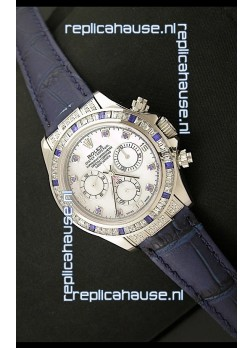 Rolex Oyster Perpetual Cosmograph Daytona Swiss Replica Watch in Blue Strap