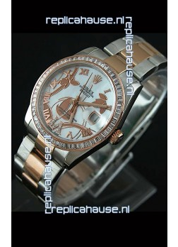 Rolex Oyster Perpetual Date Just Lady Two Tone Rose Gold Watch