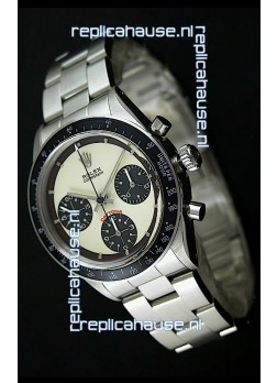Rolex Cosmograph Daytona Swiss Replica Chronograph Watch in White Dial - 1:1 Mirror Replica
