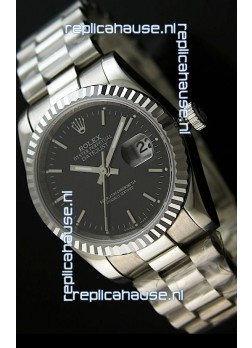 Rolex Replica Datejust Mens Swiss Watch in Black Dial - 41MM