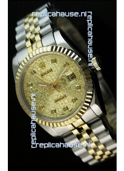 Rolex Replica Datejust Mens Swiss Watch in Gold Dial - 41MM