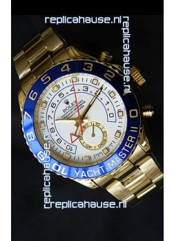 Rolex Replica Yachtmaster II Swiss Watch Yellow Gold - 1:1 Mirror Replica Watch