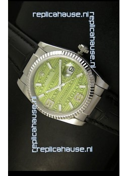 Rolex Replica Datejust Swiss Replica Watch - 37MM - Green Dial/Strap