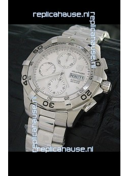 Tag Heuer Aquaracer Swiss Automatic Watch in Metallic White