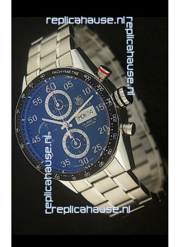 Tag Heuer Carrera Tachymeter Swiss Chronograph Watch in Blue Dial