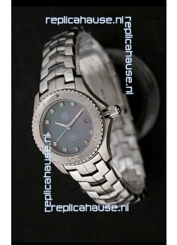 Tag Heuer Link Swiss Ladies Watch in Mother of Pearl Dark Green Dial