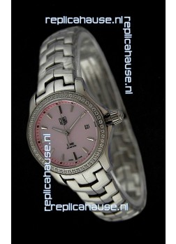 Tag Heuer Link Swiss Ladies Pink Watch
