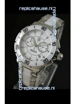 Tag Heuer Formula 1 Chronograph Swiss Replica Ceramic Ladies Watch in Ceramic Bezel