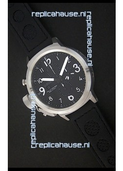 U-Boat Flightdeck Watch in Black Dial