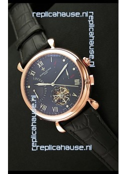 Vacheron Constantin Reserve Tourbillon Japanese Replica Watch in Rose Gold