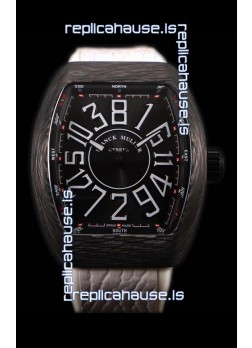 Franck Muller Vanguard Carbon Casing Black Indexes Swiss Watch