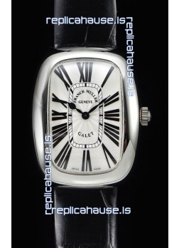 Franck Muller Galet Ladies Swiss Quartz Black Strap Watch