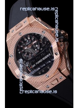 Hublot Big Bang MP-11 Power Reserve 3D Gold Carbon Replica Watch