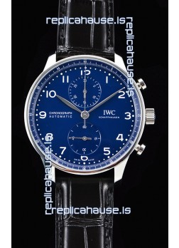 IWC Portuguese Chronograph Blue Dial 1:1 Mirror Swiss Watch