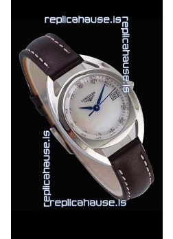 Longines Primaluna Ladies Pearl Dial Swiss Quartz Replica Watch