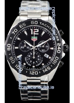 Tag Heuer Formula 1 Chronograph Swiss Quartz Replica Watch Black Dial