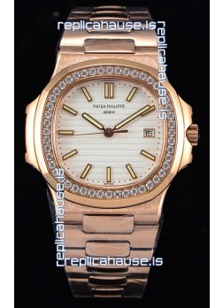 Patek Philippe Nautilus 5711/1R 1:1 Mirror Watch - Rounded Diamonds Bezel