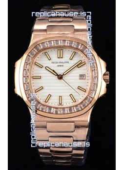 Patek Philippe Nautilus 5711/1R 1:1 Mirror Watch - Baguette Diamonds Bezel