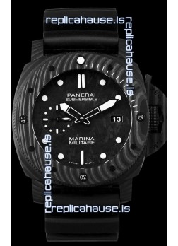 Panerai Submersible Marina Militare Carbotech 47MM 1:1 Mirror Swiss Watch