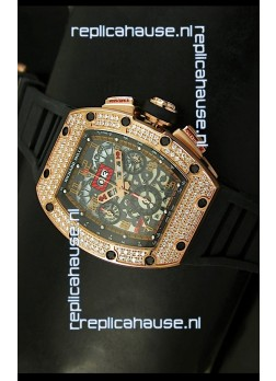 Richard Mille Filippe Massa Edition Titanium Swiss Replica Watch in Pink Gold Case