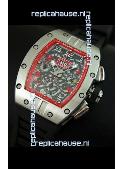 Richard Mille RM011 Filipe Massa Titanium Swiss Replica Watch