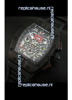 Richard Mille RM011 Filipe Massa Edition PVD Casing Swiss Replica Watch