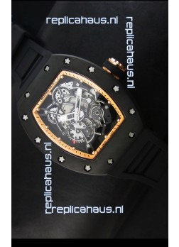 Richard Mille RM055 Bubba Watson Swiss Replica Watch in Golden Indexes