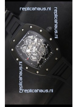 Richard Mille RM055 Bubba Watson Swiss Replica Watch in Black Indexes