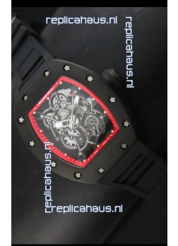 Richard Mille RM055 Bubba Watson Swiss Replica Watch in Red Indexes
