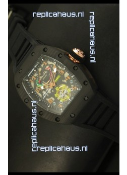 Richard Mille RM036 Jean Todt Forged Carbon Bezel Titanium Watch