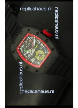 Richard Mille RM036 Jean Todt Forged Carbon Bezel Titanium Watch - Red Edition