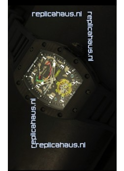 Richard Mille RM036 Jean Todt Forged Carbon Bezel Titanium Watch - All Black Edition