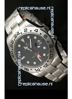 Rolex Explorer II Japanese Replica Automatic Black Steel Watch 43MM