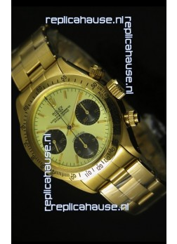 Rolex Daytona 6265 Cosmograph Metallic Gilt Dial in Gold Case